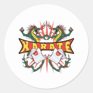 Sticker Rond Dragons de karaté du Japon