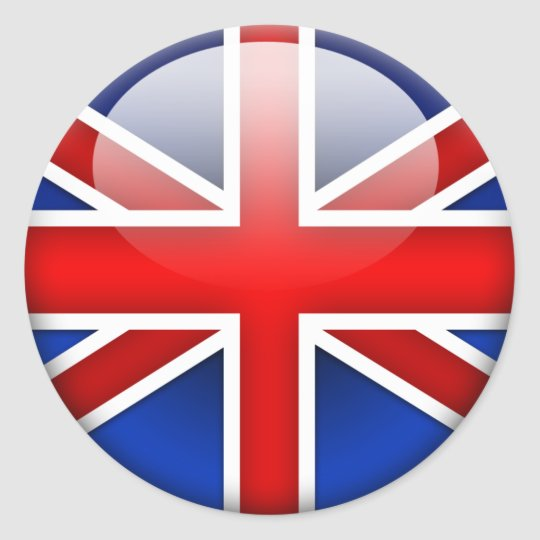 sticker rond drapeau anglais 2 0