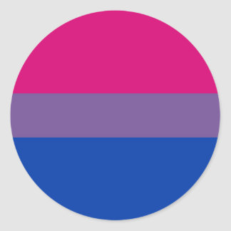 Sticker Rond Drapeau bisexuel