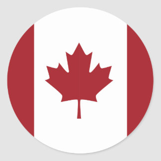 Sticker Rond Drapeau canadien