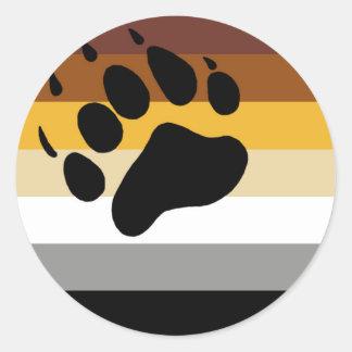 Sticker Rond Drapeau de fierté d'ours