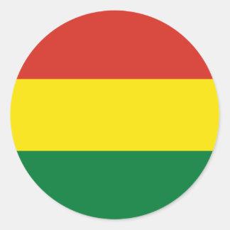 Sticker Rond Drapeau de la Bolivie