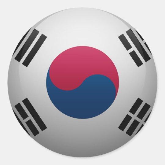 Sticker Rond Drapeau de la Corée du Sud
