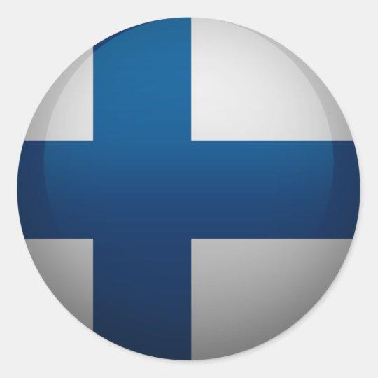 Sticker Rond Drapeau de la Finlande