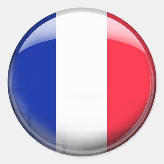 Drapeau Rond sticker rond drapeau de la france | zazzle.fr