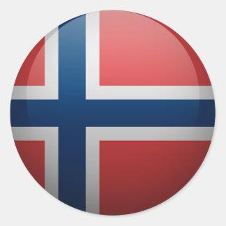 Sticker Rond Drapeau de la Norvège