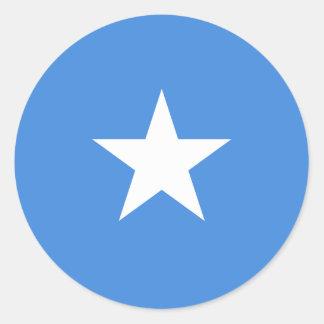 Sticker Rond Drapeau de la Somalie
