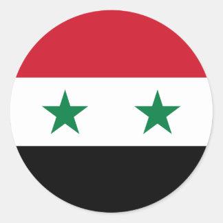 Sticker Rond Drapeau de la Syrie