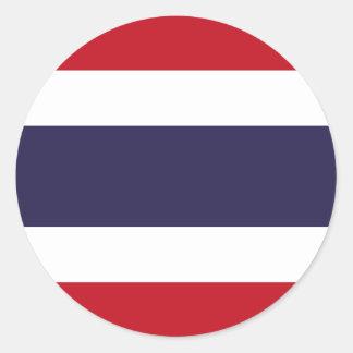 Sticker Rond Drapeau de la Thaïlande