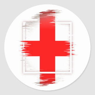 Sticker Rond Drapeau de l'Angleterre