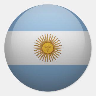 Sticker Rond Drapeau de l'Argentine