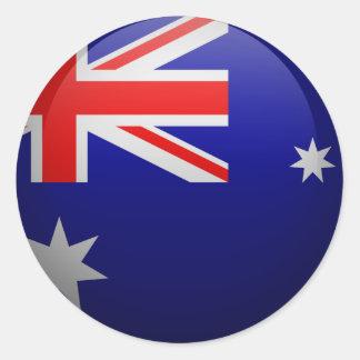 Sticker Rond Drapeau de l'Australie