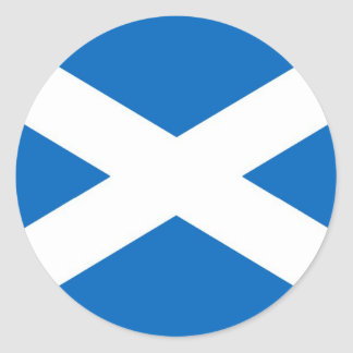 Sticker Rond Drapeau de l'Ecosse ou de Saltire