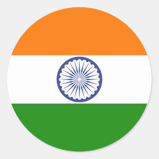 Sticker Rond Drapeau de l'Inde Ashoka Chakra
