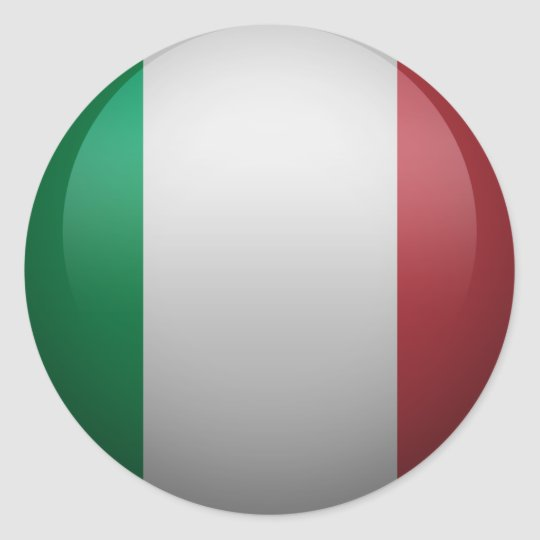 Sticker Rond drapeau de l'Italie