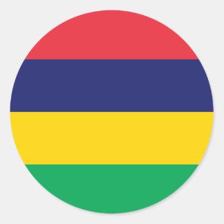 Sticker Rond Drapeau des Îles Maurice