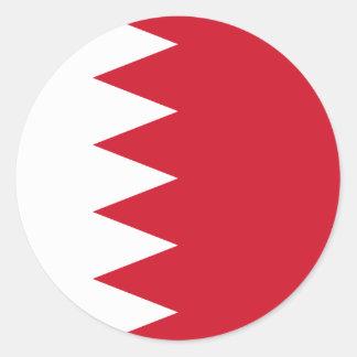 Sticker Rond Drapeau du Bahrain