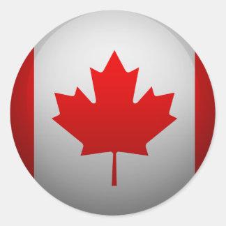 Sticker Rond Drapeau du Canada