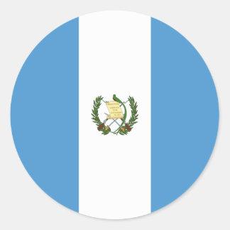 Sticker Rond Drapeau du Guatemala