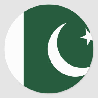 Sticker Rond Drapeau du Pakistan