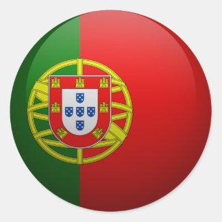 Sticker Rond Drapeau du Portugal