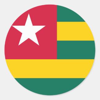 Sticker Rond Drapeau du Togo