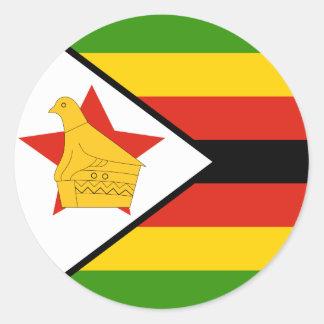 Sticker Rond Drapeau du Zimbabwe
