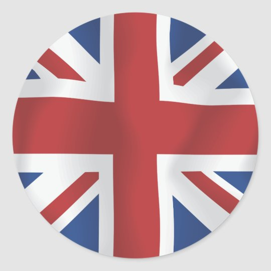 sticker rond drapeau en soie d 39 union jack les anglais de style. Black Bedroom Furniture Sets. Home Design Ideas