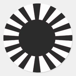 Sticker Rond Drapeau japonais de Soleil Levant
