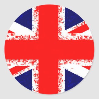 Sticker Rond Drapeau R-U de Londres de cric des syndicats