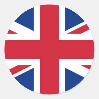 Sticker Rond Drapeau royal BRITANNIQUE de la Grande-Bretagne