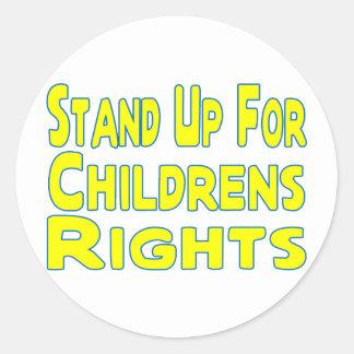 Sticker Rond Droits de l'enfant