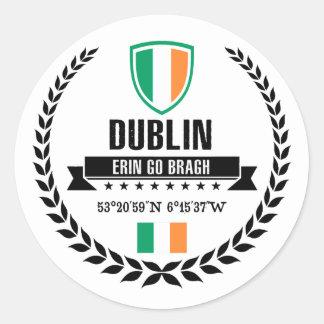 Sticker Rond Dublin