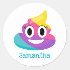 Sticker Rond Dunette Emoji d'arc-en-ciel