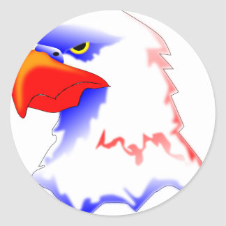 Sticker Rond Eagle chauve
