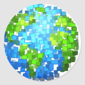 Sticker Rond earth2