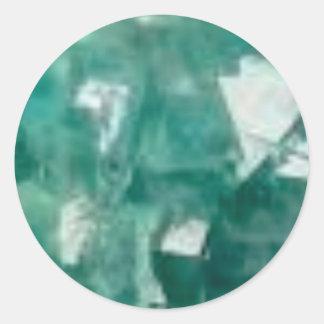 Sticker Rond éclat vert des bijoux