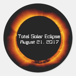 Sticker Rond Éclipse 2017 solaire totale