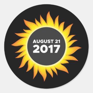 Sticker Rond Éclipse solaire totale - 08.21.2017