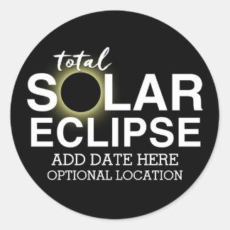 Sticker Rond Éclipse solaire totale 2017 - date et emplacement
