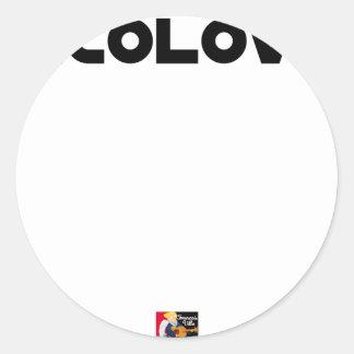 Sticker Rond ECOLOVE - Jeux de mots - Francois Ville