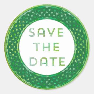 Sticker Rond Économies celtiques de vert la date