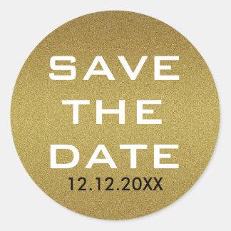 Sticker Rond Économies Shimmery de parties scintillantes d'or