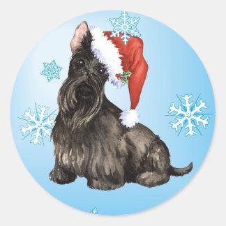 Sticker Rond Écossais heureux Terrier de Howlidays