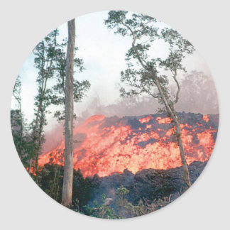 Sticker Rond écoulement de fonte du feu