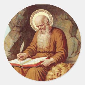 Sticker Rond Écriture sainte d'écriture de St Jerome avec le