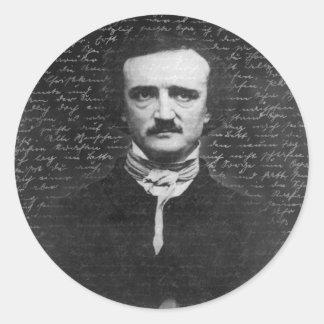 Sticker Rond Edgar Allan Poe