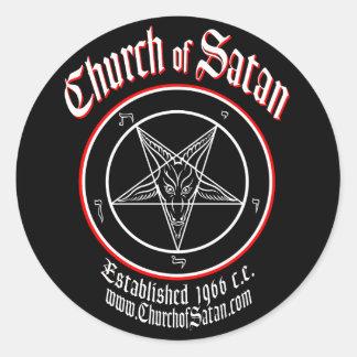 Sticker Rond Église d'ensemble de décalque de Satan