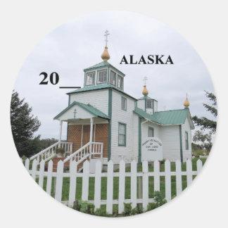 Sticker Rond Église russe