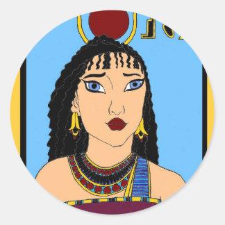Sticker Rond Égyptien